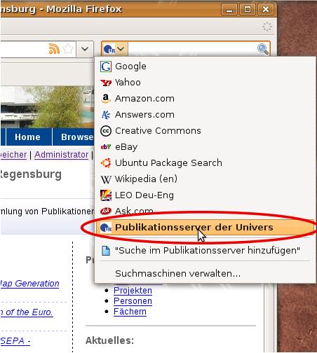 Suchmaschine Firefox